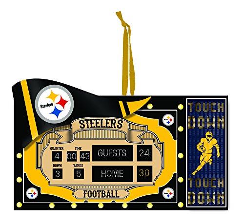 Team Sports America NFL Pittsburgh Steelers Scoreboard Polystone Ornament, Small, Multicolored