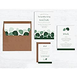 Aspen Leaves Wedding Invitation Sets