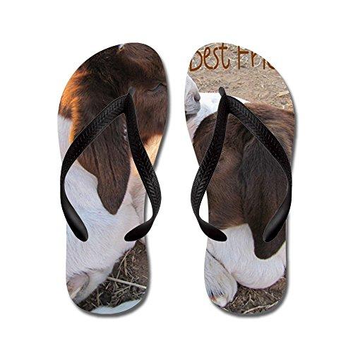 CafePress Best Friends! - Flip Flops, Funny Thong Sandals, Beach Sandals Black
