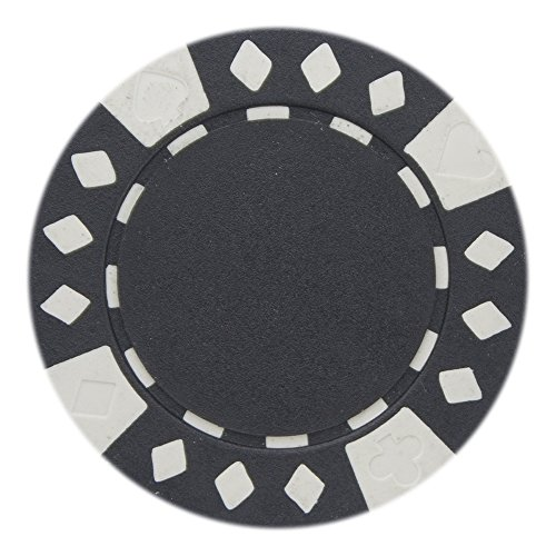 Brybelly Diamond Suited Poker Chips Versatile 11.5-gram Clay Composite – Pack of 50 (Black)