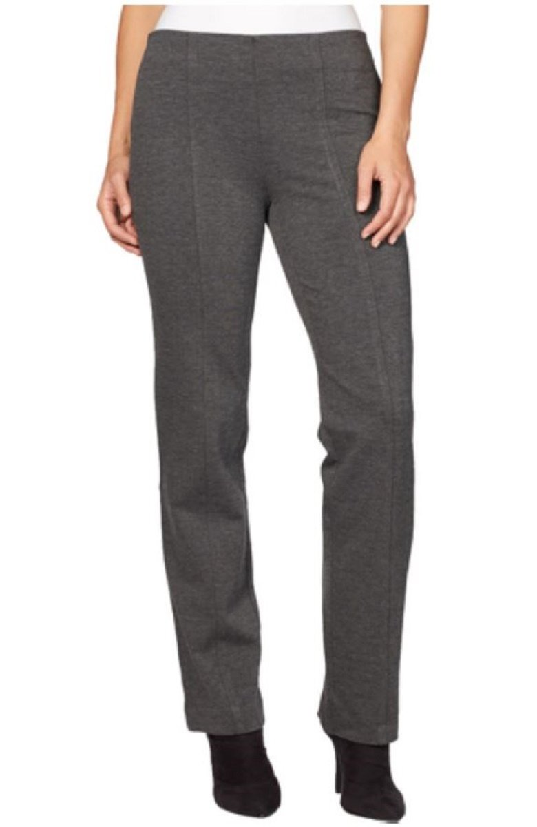 Gloria Vanderbilt Ladies Jolie Ponte Stretch Pull On Pant, Heather Grey (10 Average)