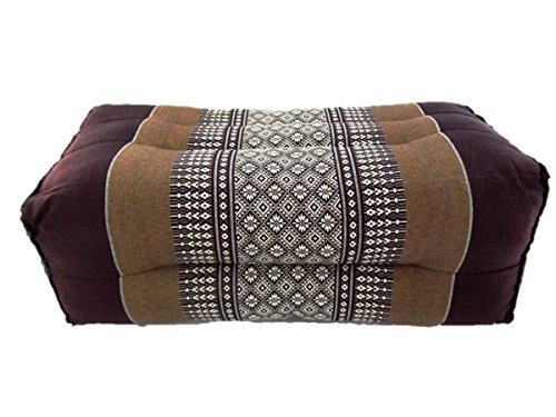 Yoga Bolster Rectangular Headrest Armrest Knee Rest Wedge Thai Kapok Filling Pillow (Bolster Daisy - Daisy Pillow Bolster