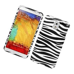 CY Graphic Design Cover Case For Samsung Galaxy Note 3 (include a Free CYstore Stylus Pen) - Zebra Black/White
