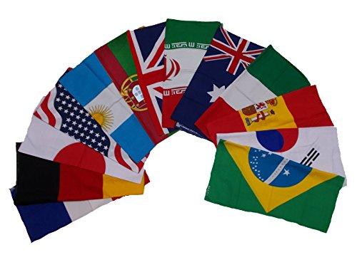 (50x50 cm 13pc/set Handkerchief Cotton pocket square Hanky Bandana Scarf Hankie Headband World Cup Flag Euro 2016)