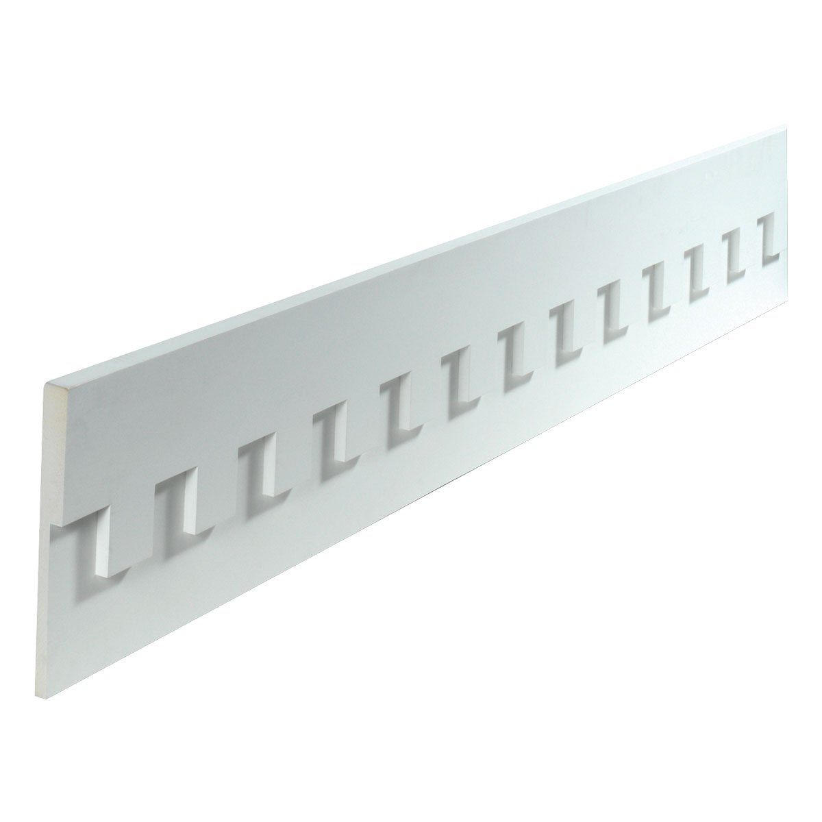 11 1/2W x 2 3/4T/S x 1 3/16P, 12' 4 1/2Length, Dentil Fascia Moulding 12' 4 1/2Length Fypon
