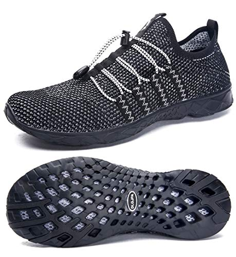 DLGJPA Men's Quick Drying Water Shoes for Beach or Water Sports Lightweight Slip On Walking - Mesh Shoes Water