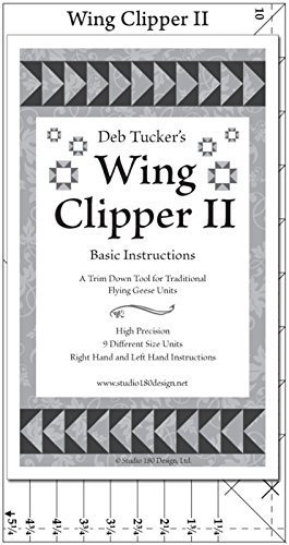 Wing Clipper II - Quilting Tool for Trimming Down Flying Geese Units by Studio 180 Design