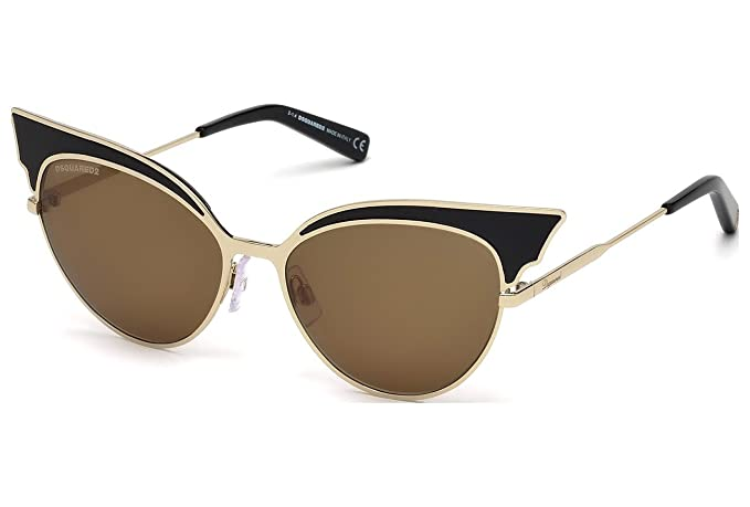 Gafas de sol DSquared2 DQ0166 C55 01J (shiny black / roviex ...