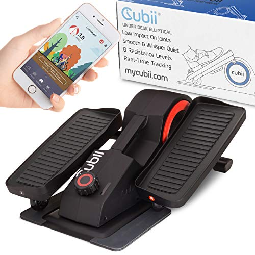 Cubii Pro Under Desk Elliptical, Bluetooth Enabled, Sync with Fitbit and HealthKit, Adjustable Resistance, Easy Assembly (Noir)