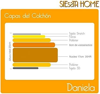 Siessta Home - Colchón viscoelástico Daniela de 25 cms (135 ...