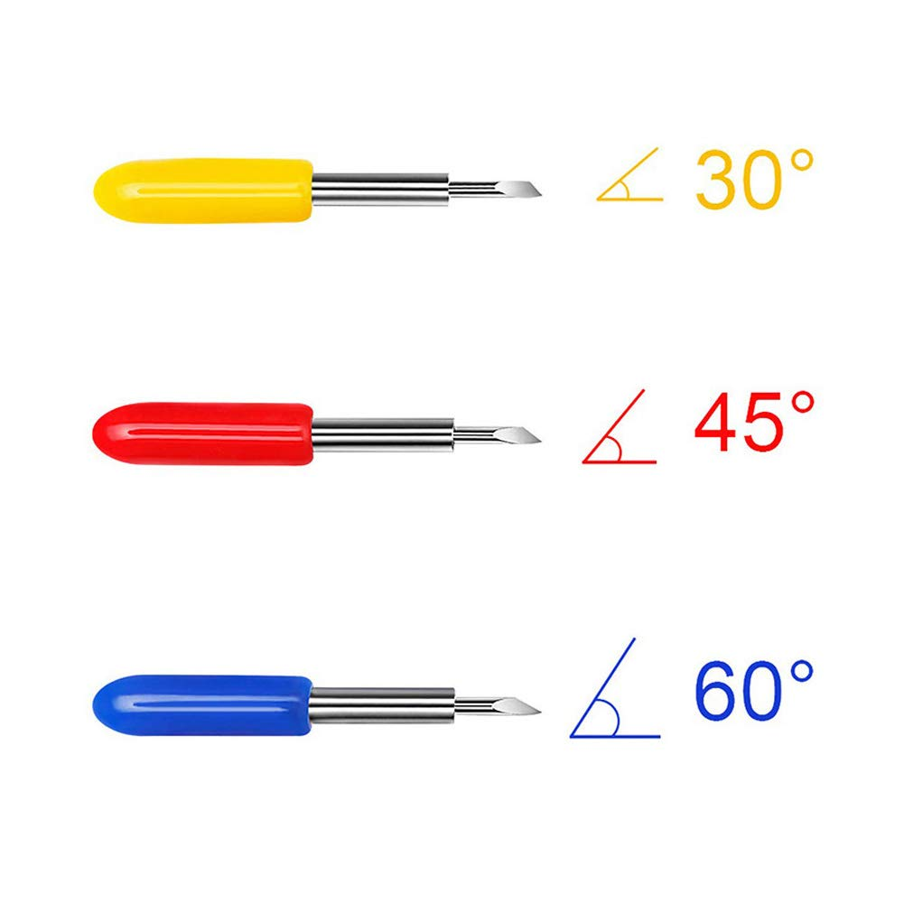 LM 30/45/60 Degree Vinyl Cutter Blades Roland Cutting Plotter with Holder Base by L&M (Image #3)