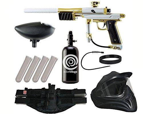 Action Village Azodin KP3 Legendary Paintball Gun Package Kit (White/Gold) ()