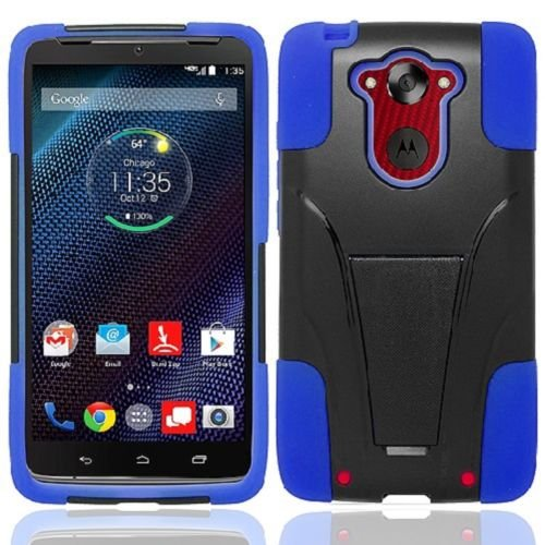 Motorola Droid Turbo XT1254, Premium Durable Rugged Shell Hybrid Protective Phone Case Cover with Built