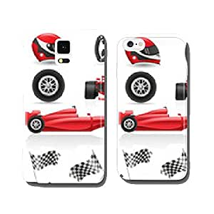 set racing icons vector illustration EPS 10 cell phone cover case Samsung S6