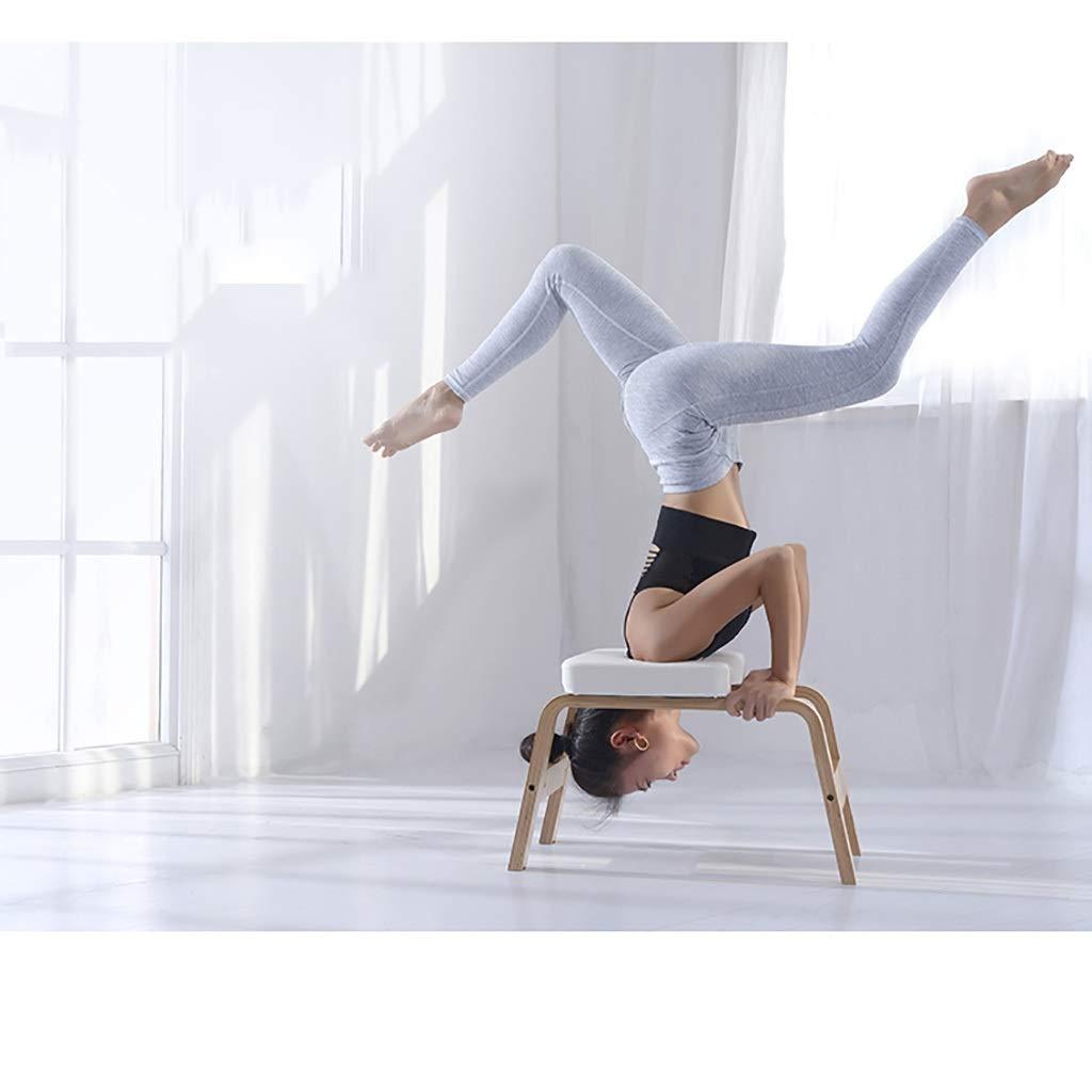 Amazon.com : Yoga Chair Fitness White Oak Inversion Bench ...