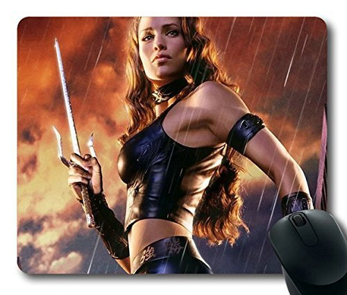 Popular Mouse Pad with daredevil elektra jennifer garner elektra natchios costume sai Non-Slip Neoprene Rubber Standard Size 9 Inch(220mm) X 7 Inch(180mm) X 1/8 Inch(3mm) (Daredevil Elektra Costumes)