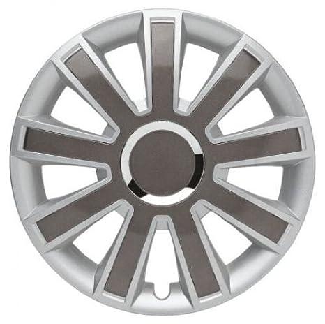 4 Tapacubos Tapacubos tipo flash II Plata/Gris Compatible con Mercedes 15 pulgadas Llantas de Acero: Amazon.es: Coche y moto