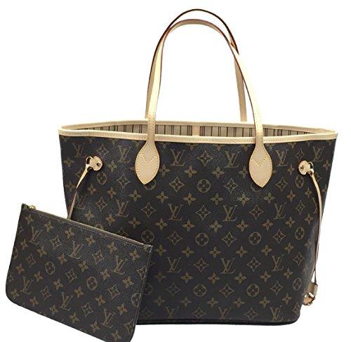 Louis Vuitton Neverfull MM Monogram Beige M40995 - Pochette Authentic Vuitton Louis