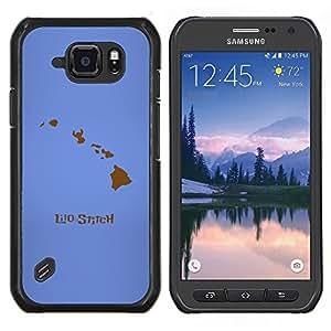 Caucho caso de Shell duro de la cubierta de accesorios de protección BY RAYDREAMMM - Samsung Galaxy S6Active Active G890A - Lilo Stitc