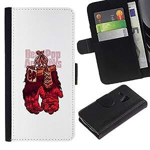 All Phone Most Case / Oferta Especial Cáscara Funda de cuero Monedero Cubierta de proteccion Caso / Wallet Case for Samsung Galaxy S3 MINI 8190 // Gorilla Boxing Gloves
