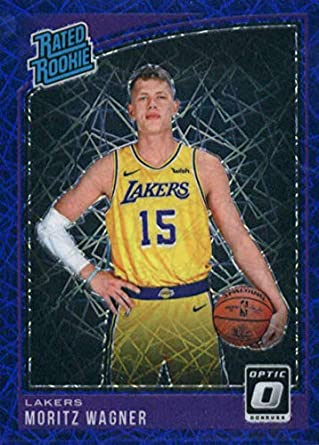 aba7fc8bff2 2018-19 Donruss Optic Blue Velocity  197 Moritz Wagner Los Angeles Lakers  Basketball Card