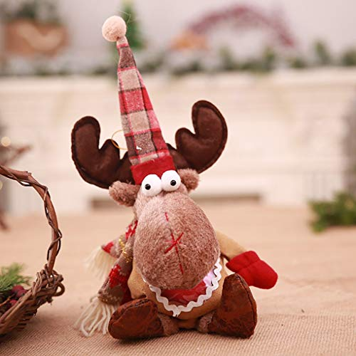 Reindeer Goody Bag - HAZEGACC - Christmas Tree Hanging Eve Reindeer Clothes Gift Bag Party Sack Xmas Goody Birthday Party Wedding Holiday Decoration