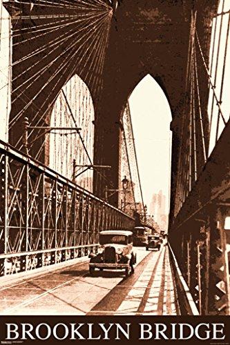Pyramid America Malcolm Watson Brooklyn Bridge NYC New York City East River Vintage Photograph Poster 24x36 inch ()