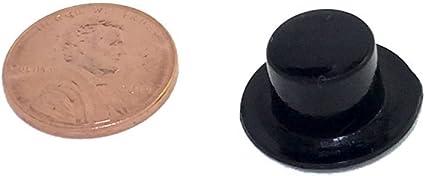 28 x 17mm, 24//pcs Black Plastic Top Hats
