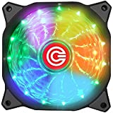Circle 120MM High Quality 7 Colours Self Changing LED Silent Cabinet Cooling FAN
