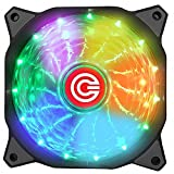 Circle 120mm 7 Colours Self Changing LED Silent Cabinet Cooling Fan