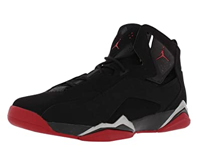 24d0421df3bcb9 Jordan True Flight Men s Basketball Shoes Black Gym Red-Metallic Silver  342964-001