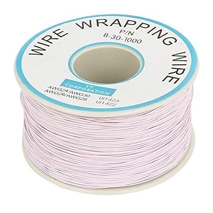 Amazon.com: eDealMax P/N B-30-1000 estañado de alambre de cobre de envolver 30AWG Cable 250M: Electronics