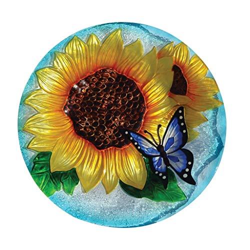 Glass Songbird Birdbath - Songbird Essentials Blooming Sunflower Birdbath