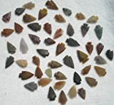 "Set Of 50 Indian Arrowheads Agate New Replica 1/2 "" - 1 1/2 "" L"