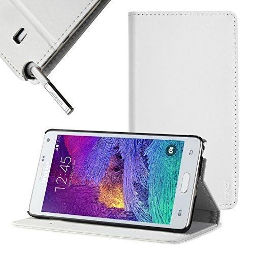 Samsung Galaxy Note 4 Case - Exact Samsung Galaxy Note 4 Case [BillFOLD Series] - PU Leather Wallet Flip Cover Case for Samsung Galaxy Note 4 (SM-N910S / SM-N910C)White