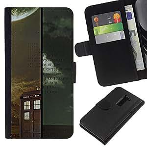 LECELL--Cuero de la tarjeta la carpeta del tirón Smartphone Slots Protección Holder For LG G2 D800 -- Médico Retro Vintage stand --