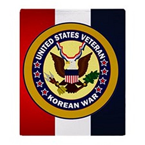 CafePress Veterans Korean Blanket Stadium