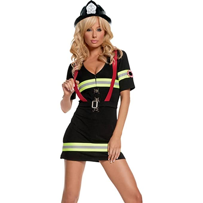 Elegant Moments - Disfraz de bombero sexy para mujer, talla M ...