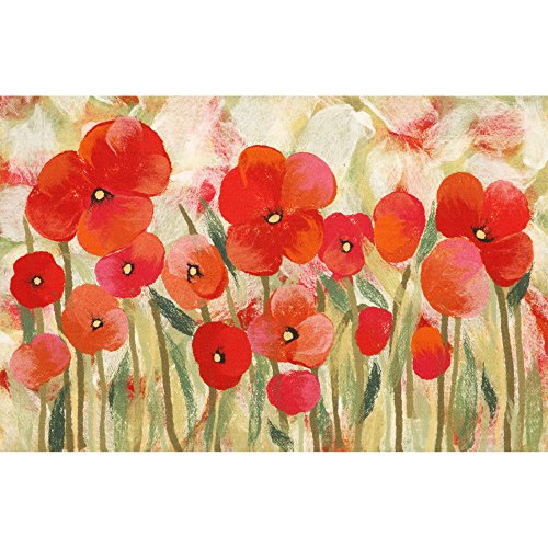 - Trans Ocean Polyester Area Rugs Liora Manne Illusions Poppies Indoor/Outdoor Mat Red 19.5