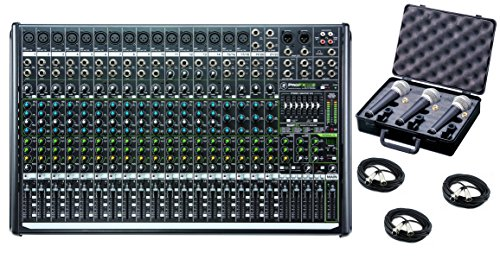 Mixer Effect Case - Mackie PROFX22V2 22-Channel 4-Bus Mixer with USB and Effects bundled with 3 mics, case and cables