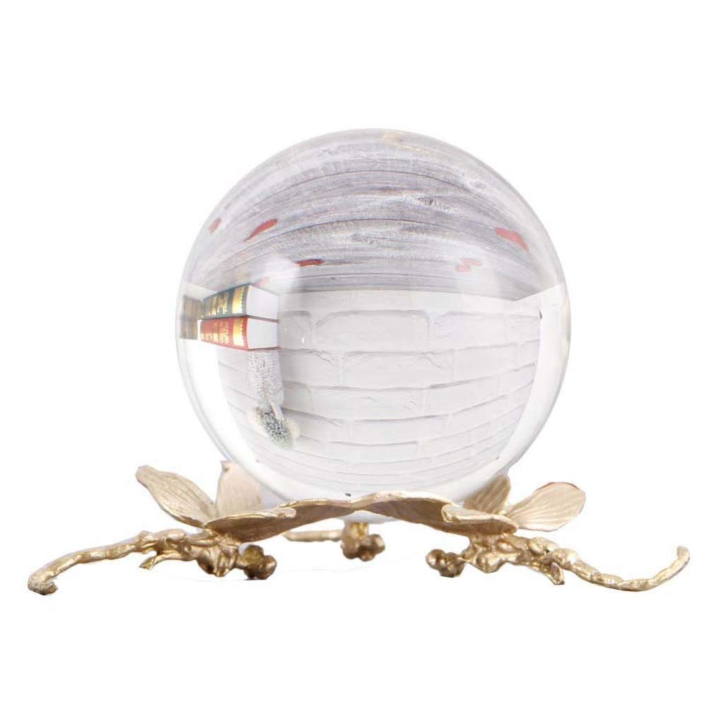 Fine craft StatueBrass Decoration Model Room Decoration Crystal Ball Living Room Creative Enamel Crystal Ornament