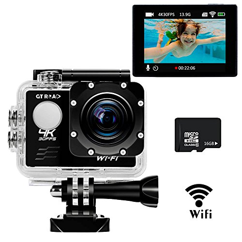 4K-Ultra-HD-Action-Camera-with-WifiSports-Action-Cam-By-GT-ROADWaterproof-98-Feet30m170-Wide-Angle-Lens20-Inch-LCD-Screen16GB-TF-Card-as-A-Gift-Included