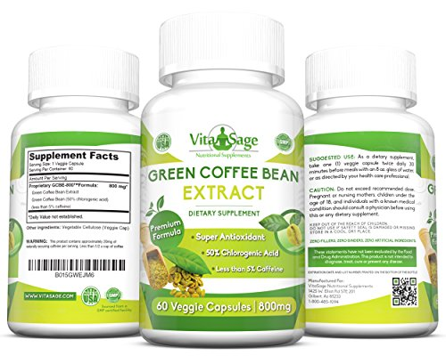 Pure Green Coffee Bean Extract Premium Formula With 50
