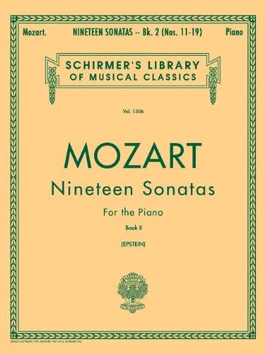 Mozart 19 Sonatas - Nineteen (19) Sonatas For The Piano Book 2 English Spanish Text (Schirmer's Library of Musical Classics)