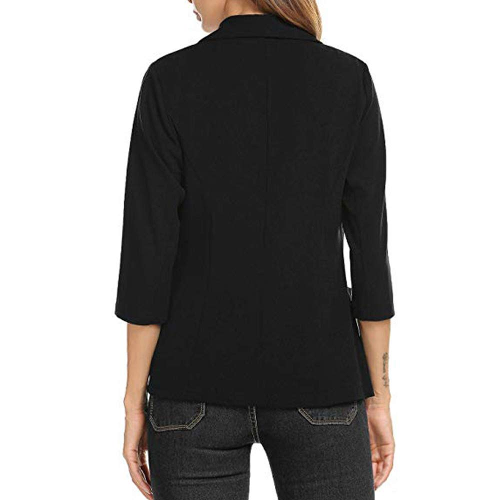 Misaky Womens Cardigan Work Office Suit 3//4 Sleeve Blazer Open Front Short Jacket