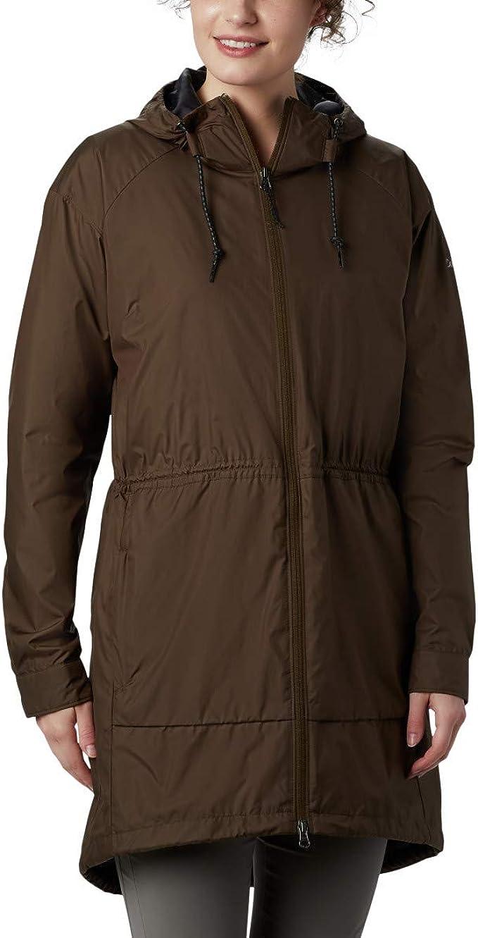 Columbia 哥伦比亚 Sweet Maple 中长款防水女式连帽夹克外套 S码2.7折$29.98 海淘转运到手约¥269