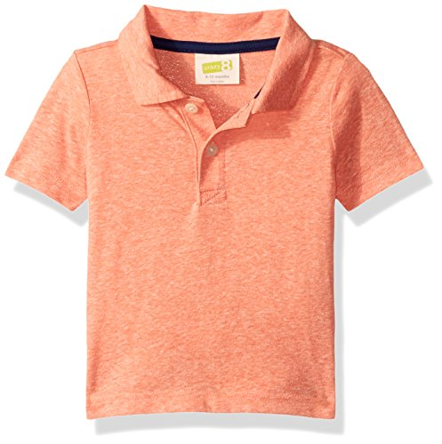 Crazy 8 Baby Toddler Boys' Crl Sspolo Blizzard Ss Polo, Coral, 4Y