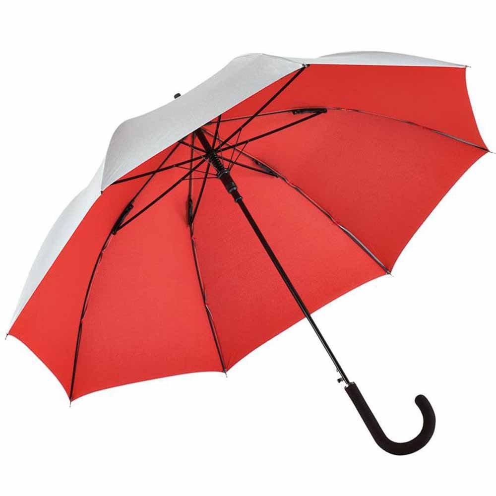 FARE–Regenschirm GEHSTOCK Automatische Außen silbergrau–7119