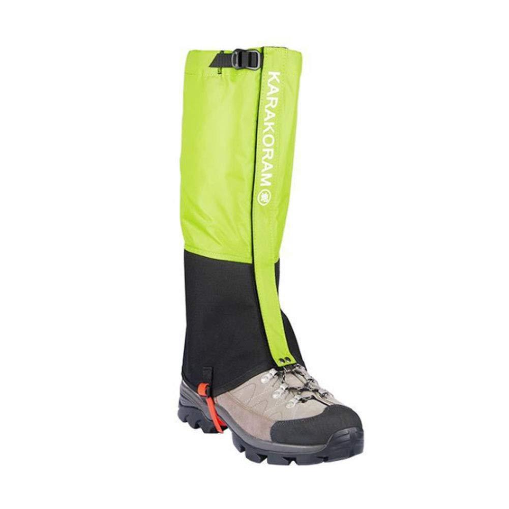 Wasserdichte Gamaschen Gaiter f/ür Outdoor-Hosen zum Wandern Klettern und Schneewandern Wandernde Gehende Kletternde Jagd-Schnee Atmungsaktiv Legging SEIGNEER Outdoor Gamaschen