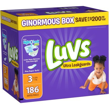 Luvs Diapers sz 3, 180 ct by .Luvs